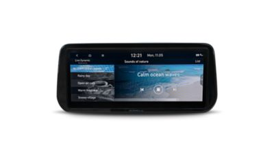 "A picture of the new Hyundai SANTA FE Plug-in Hybrid's optimally placed 10.25"" touch widescreen."